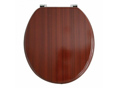 "17"" Mahogany Solid Wood Toilet Seat"