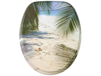 Beach Coconut Tree Toilet Seat